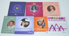 The Netherlands - Year packs 2003 through 2014 ´Theme sets KNM´ (7 pieces) including silver commemoration medal