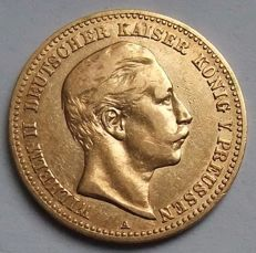German Empire, Prussia - 10 mark 1893 A - gold