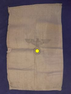 Wehrmacht, food bag, burlap sack, good condition, front with Eagle and cross back army catering 1944