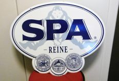 Enamel advertising sign - Spa Reine - 4/11/1997 - H: 43 cm, width: 54 cm
