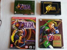 "Nintendo 64 - The legend of Zelda Majora""s mask + Ocarina of Time with stragedy guide"
