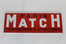 Enamel sign - PARIS MATCH - 1961
