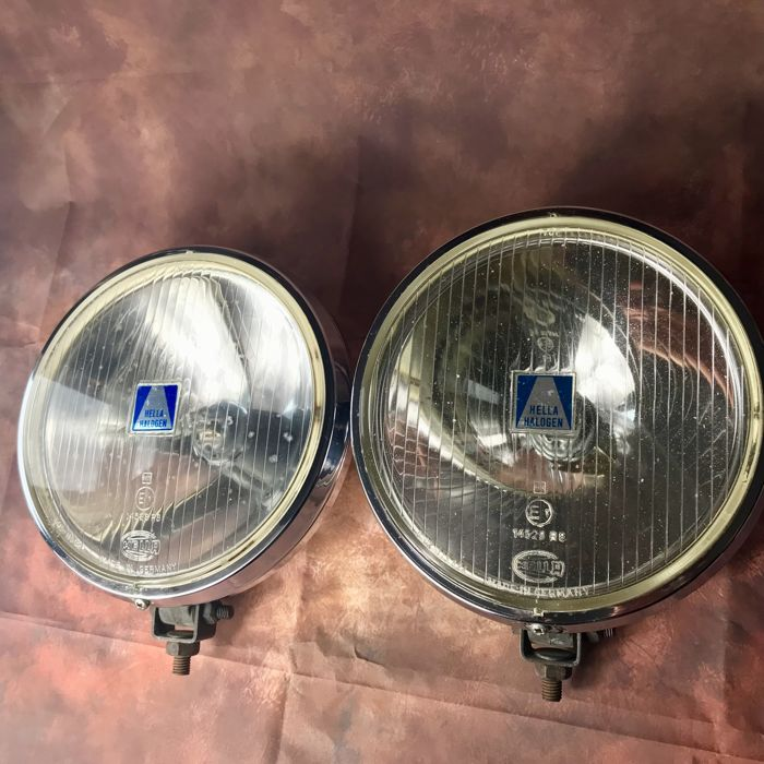 Beautiful set 20 cm large Hella 192 Rally Spotlights - Catawiki