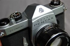 Asahi Pentax Spotmatic (SP) with additional lens 135 mm