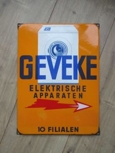 Enamel advertising sign Geveke - ca. 1950s