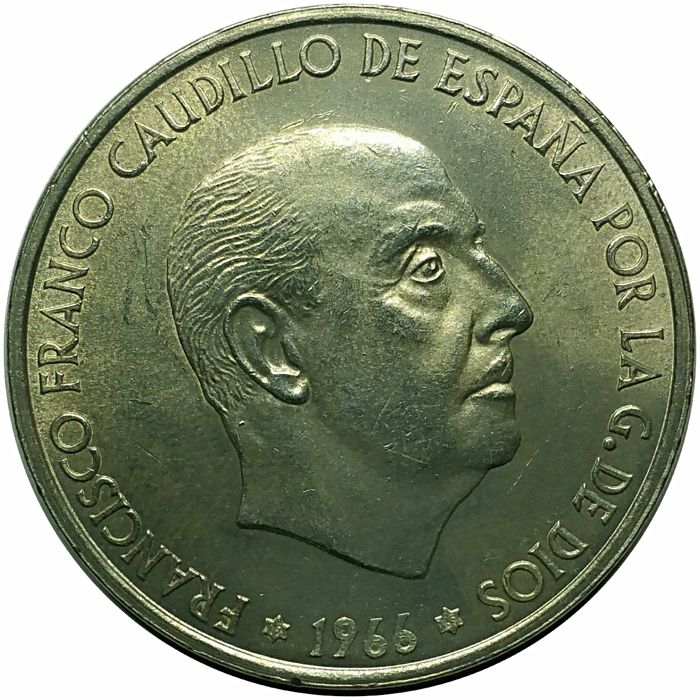 Spain. Madrid, Francisco Franco 1966 (*19*69) Straight 9 variant