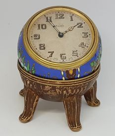 Zenith 8-days colorful enamel table watch