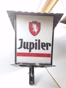 Vintage Jupiler outdoor lighting with the old logo