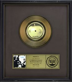 "The Beatles - Official RIAA Award - For the sale of multi million copies of ""Hey Jude"""