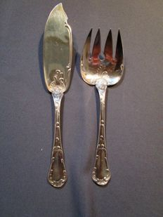 """Christofle - fish serving cutlery - series """"MARLY"""" - mint condition"""