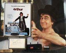 Dudley Moore Arthur signed photo mount