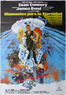 Diamonds are Forever James Bond 007 - Spanish Poster and Lobby Set, 1983 - Sean Connery