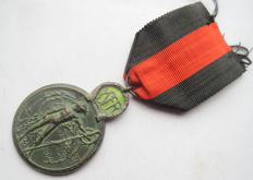 "Yser medal in memory of service in the ""battle of the Yser"" - WW1."