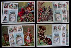 Large lot of old chromos liebig - 94 old series of 6 cards in very good condition - from 1883 to 1925