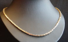 Exclusive gold necklace, Byzantine chain, 585 gold, marked 23.7 g 51.5 cm