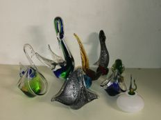 10 collectible pieces in fine glass, rare collection,