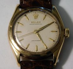Rolex - Bubble back 18 kt gold Oyster Perpetual - 6084 - Unisex - 1950–1959