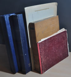 World - Batch in various old albums and stock books