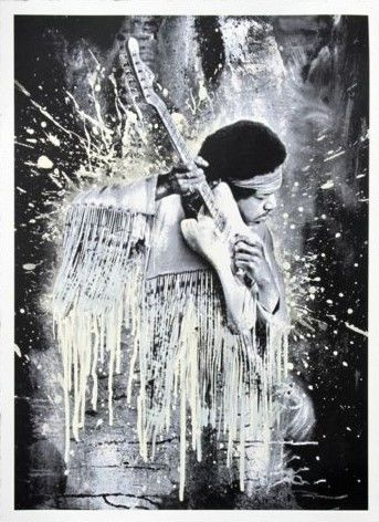 Mr Brainwash - Jimi - White Edition
