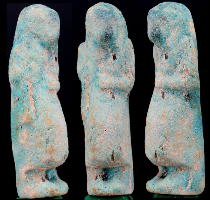 Egyptian faience Overseer Shabti ca. 10,5cm - c. 4,13 inches.