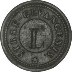 "Leiden - Prison currency - ½ cent ""Straf gevangenis"" without year (1834) - zinc"