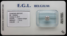 1.18 Cts Certified H Colour Diamond  -No Reserve