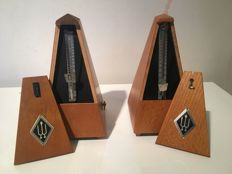 Two Wittner metronomes, probably late 20th century