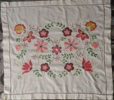 Very beautiful hand embroidered tablecloth