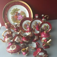Collection of Limoges porcelain 22 miniature objects