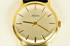 ALPINA - 18ct gold (0,750) -  Dress watch - men's 1969s.
