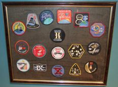17 Frames NASA Mission Patches i.e. Mercury and Gemini Misions