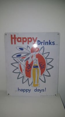 Happy Drinks - Happy Days - advertising sign