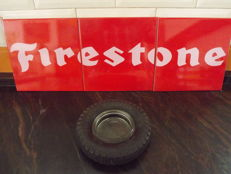 Set 3 Tiles Firestone and Ashtray Rubber Wheel Firestone