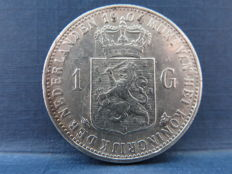 The Netherlands - 1 guilder 1904 Wilhelmina - silver