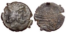 Roman Republic - Anonymous c. 211-208 BC - Æ reduced As (16mm; 1,86g.), Luceria? mint - Head of Janus / Prow - Cr. 97/28; Russo RBW 424 - Rare