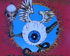 """Jimi Hendrix Experience """"Flying Eyeball"""" Live at Winterland San Francisco by Rick Griffin 1968"""