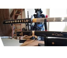 Battle ready Kill Bill Movie sword katana (full tang, leather ito)