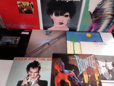 Set of 15 new wave/punk/pop albums; by Cure, Ultravox, David Bowie, Stranglers (6x) and others.