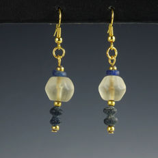 Earrings with Roman Glass Beads - 52.6 mm