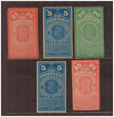 United States 1865, newspaper stamps