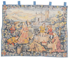 vintage  pictorial tapestry  , second half of the 20th century, France  88 cm x 112 cm,