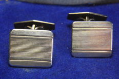 Silver cufflinks from 1930s
