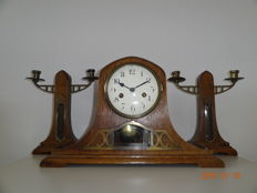 Mantel clock with candlesticks, from the 1930s.