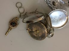 1881 - Chester English open face pocket watch