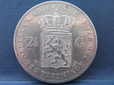 "The Netherlands - 2½ guilder 1874, Willem III ""with sword"" - silver"