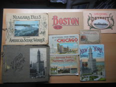 America 8 Photo-folders American cities