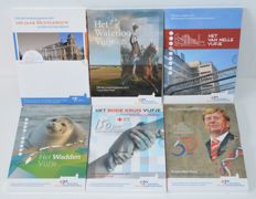 The Netherlands - 5 and 10 Euro 2011/2017 (6 different) in blister packaging - silver