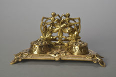 Very nice large bronze Inkwell, France, 1850