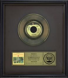 "The Beatles - Official RIAA Award - For the sale of multi million copies of ""The ballad of John & Joko"""