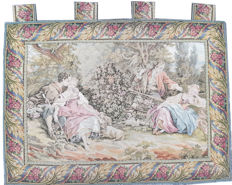 vintage  pictorial tapestry  , second half of the 20th century, France  66 cm x 90 cm,